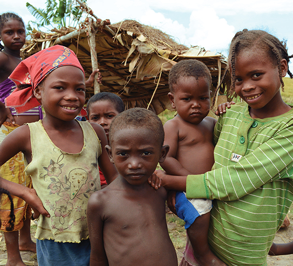 Photo of children in Madagascar